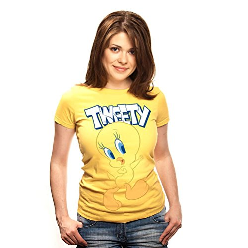 Looney Tunes Official Licensed Women's Tweety Pie Character Fitted ()