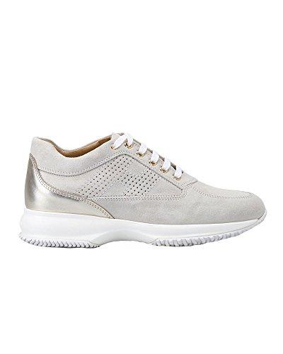 Donna HXW00N00E30IDZ0PCE Bianco Sneakers Pelle Hogan C0wO5q1