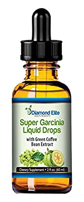 Super Garcinia Cambogia Liquid Drops With Green Coffee Bean Extract - 2 oz - Best Appetite Suppression For Quick Weight Loss - 2 Powerful Supplements Infused Into 1 - 100% MONEY BACK GUARANTEE!