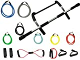 Wacces New Home Pull Up Chin Up Bar Exercise Doorway Workout And 16 Pc Resistance Bands For P90X Or Any Fitness Program