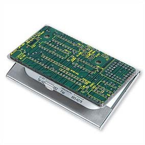 (ComputerGear Recycled Computer Circuit Board Business Card Case Holder)
