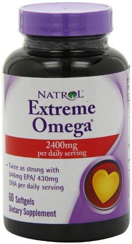 Natrol Extreme Omega Softgels Count