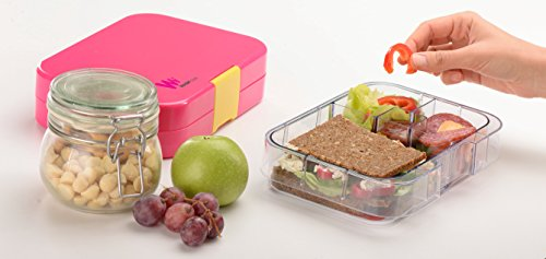 wonderesque bento lunch box leakproof lunch container for kids and adults pink in the uae. Black Bedroom Furniture Sets. Home Design Ideas