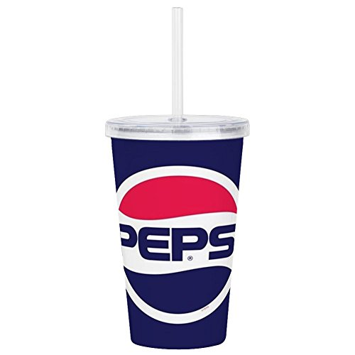 - CafePress Pepsi 90S Logo Insulated Straw Cup, 20oz Acrylic Double-Wall Tumbler