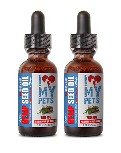 Heart Support Dog - Hemp Seed Oil for Pets 780MG - for Dogs and Cats - Premium Extract - Dog Hemp Oil Skin - 2 FL OZ 60ML (2 Bottle)