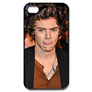 CTSLR Music & Singer Series Black Protective Hard Case Cover for iPhone 4 & 4S - 1 Pack - One Direction - Harry Styles 13(NRJ Music Awards 2013)