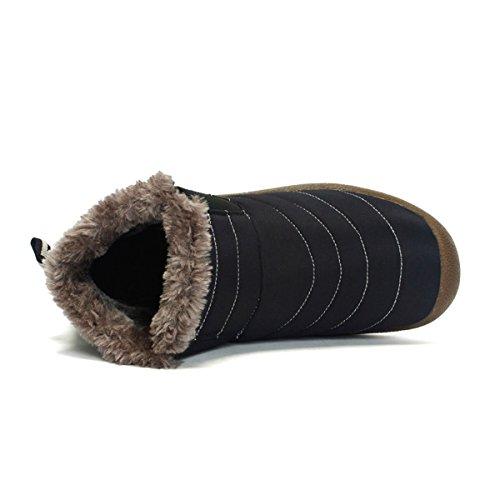 Scarpe Scarpe Sportive Imbottitura Scarpe Stivaletti Stringati Impermeabile scuro Neve Blu da Calda Stivali Gracosy con Unisex Invernali Caldo del Pelliccia TwxaSqIc