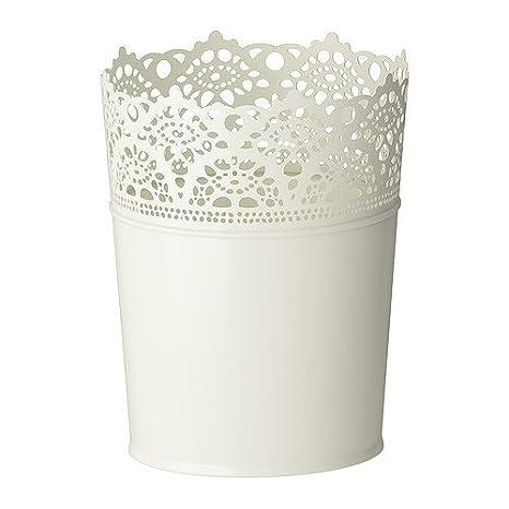 Ikea Fiori Uebertopf Skurar 12 Cm In Metallo In 4 Colori Bianco