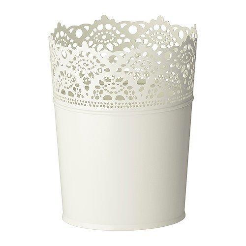 IKEA Blumen Übertopf SKURAR 12 cm Metall in 4 Farben (Weiß)