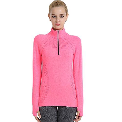 SPOWER Women's Fitness Sport Yoga Tops Long Sleeve Tee Running Quick Dry - Women For Running Good Is