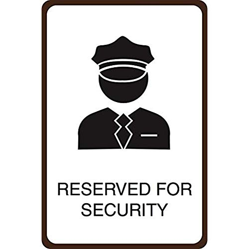 """Diuangfoong Reserved for Security Print Officer Guard Picture Street Parking Lot Office Business Aluminum Metal Tin 12""""x18"""" Sign Plate from Diuangfoong"""