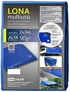 Blue 2x3m Criscolor 407532 Multi-Purpose Tarpaulin