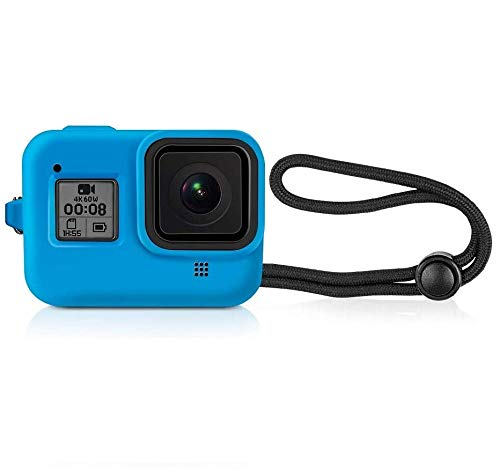 Yantralay School Of Gadgets Protective Silicone Sleeve Case with Lanyard Compatible with Hero 8 Black Action Camera - Blue