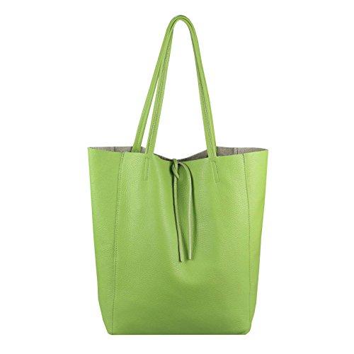 Azul Mujer Bolsa Obc Cm Made Verde Comprador In Bandolera 38x36x9 Italy Manzana a4 Ca Flechtoptik Manejar Mano Bolso Din Cuero bxhxt De Genuino Oscuro vaqSaIwr