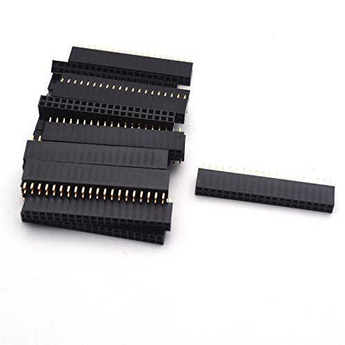 Antrader 20pcs Dual Female Pin Header Socket Connector Strip ()
