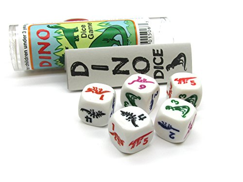 - Koplow Games Dino Dice Game 5 Dice Set with Travel Tube and Instructions