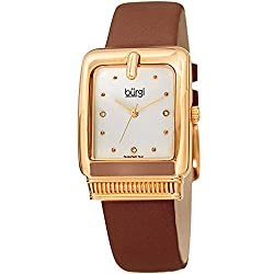 Women's Rectangle 3 Diamond Marker Watch