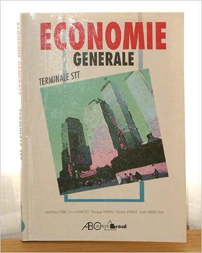 Lire un Economie générale, terminale STT pdf
