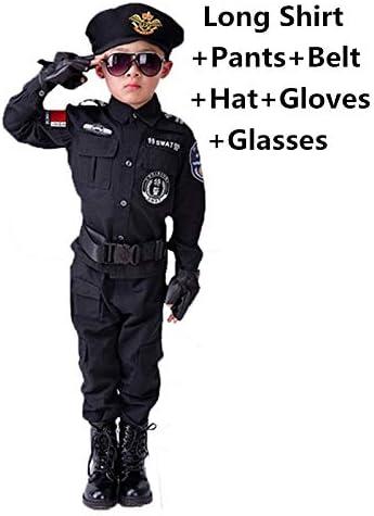 DMMDHR Halloween Boys Carnival Disfraces de policía Niños Fiesta ...