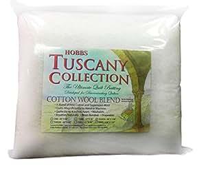 "Hobbs TCW72 Tuscany Wool Cotton Batting, 72"" x 96""/Twin"