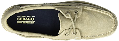 Canvas Women's Shoes Beige Docksides Boat Sebago Beige dav4qYY7