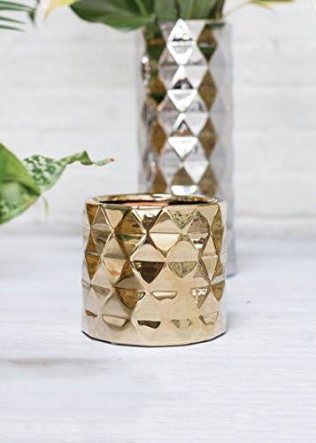 Gold Ceramic Architect Floral Vase – 4