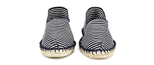 Wasserabweisender Espadrij Klassische Classic Damen Canvas Espadrilles und Schuhe Aus Marine Unisex Fine Herren mit Gemütliche Jutesohle qr7qpw