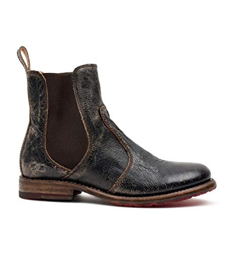 Bed|Stu Women's Nandi Leather Short Boot (8.5 M US, Black Lux)