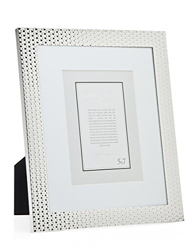 Philip Whitney 5x7/4x6 Versatile Silver Mat Weave Picture Photo Frame Standing Horizontal or - Photo Frame Godinger