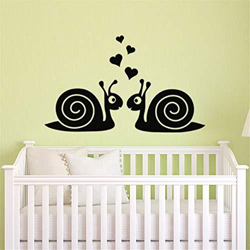 Jifer Vinyl Wall Sticker Mural Bible Letter Quotes Snail for Bedroom Living Room Nursery Kids Room