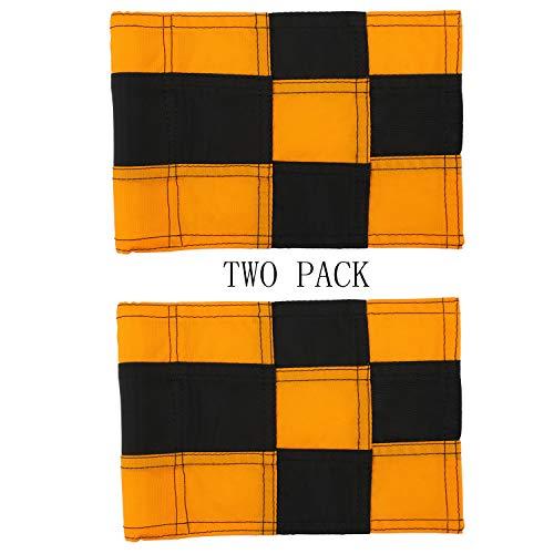 diliclever Golf Flag,Practice Green Golf Flags,400D Nylon Golf Putting Green Flag,Indoor Outdoor Backyard Golf Pin Flags,6 x 8 (Black-Orange)