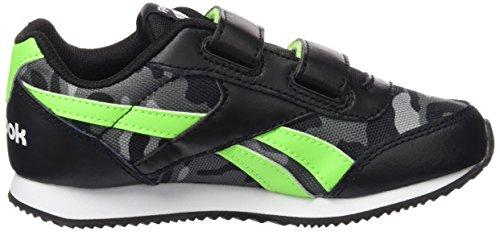 Reebok Royal Cljog 2gr 2v, Zapatillas de Running para Niños Negro / Verde / Gris / Blanco (Black / Solar Green / Ash Grey / Shark / Wht)