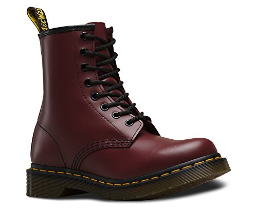 Dr. Marten's Women's 1460 8-Eye Cherry Red Rouge Smooth Leather Boots - (8 Eyelet Leather)