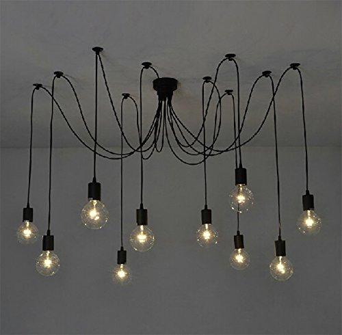 Lampadario Moderno Fai Da Te.E27 Lampada Vintage Sospensione Lampadario Per Soffitto Fai Da Te