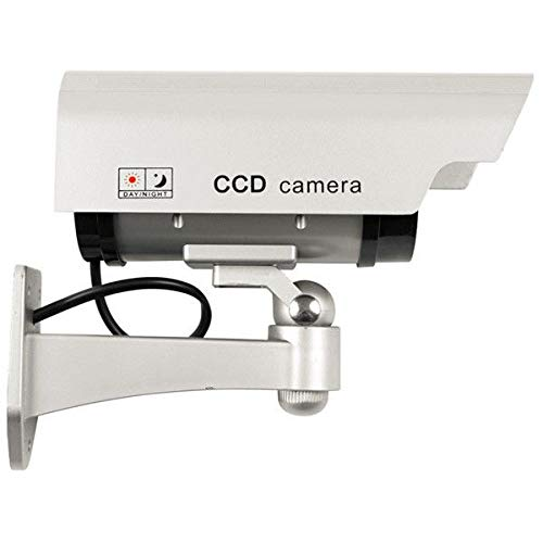 Solar Powered Fake Camera Indoor Outoodr Dummy Bullet CCTV Security Surveillance Camera with Blinking IR LED