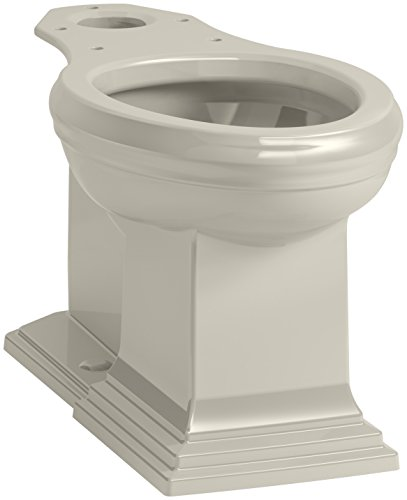 KOHLER K-5626-G9 Memoirs Comfort Height Elongated Toilet Bowl with Concealed Trap Way, Sandbar