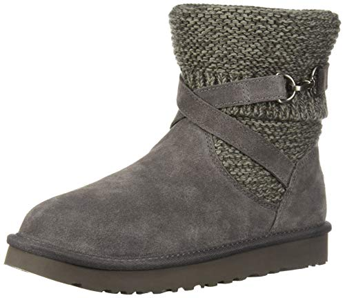 UGG Women's W Purl Strap Boot Fashion, Charcoal, 9 M US (Boots Uggs Knit)