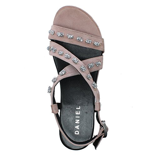 Daniel Malachy Pink Suede Jewelled Sandals Pink Suede B1ABVQB7O