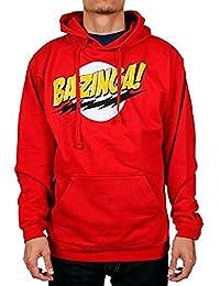 The Big Bang Theory Bazinga! Red Adult Hooded Sweatshirt Hoodie