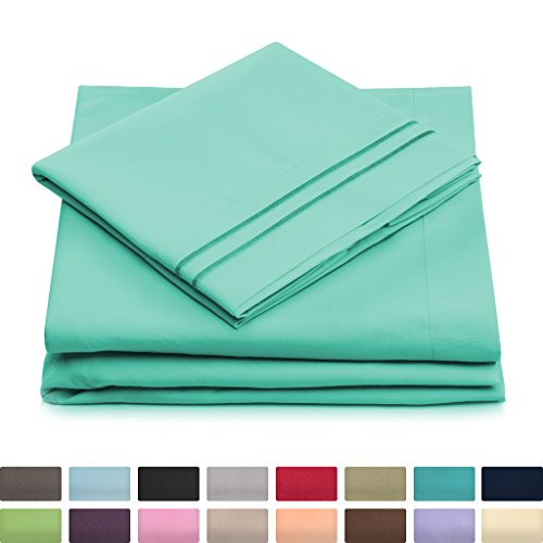 Full Size Traditional Bed (Full Size Bed Sheets - Pastel Green Luxury Sheet Set - Deep Pocket - Super Soft Hotel Bedding - Cool & Wrinkle Free - 1 Fitted, 1 Flat, 2 Pillow Cases - Mint Full Sheets - 4 Piece)