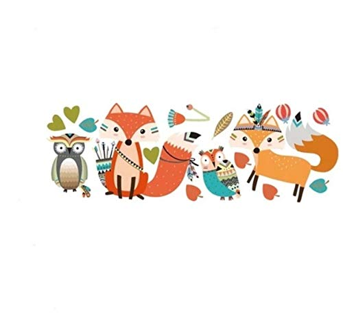 GVGs Shop 1 Pack Tribal Fox DIY Lovely Woodland Animal for Kids Room Nursery Wall Sticker Flower Butterfly Sun Decals Princess Kitchen Jeep Decal Worthy Popular Vinyl Mural Art Decor, Type-06