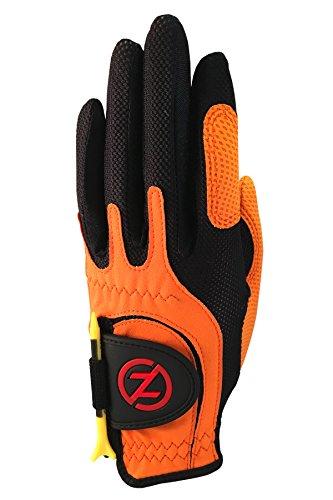 Zero Friction Junior Golf Gloves, Left Hand, One Size, Orange