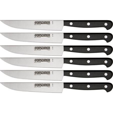Victorinox Cutlery 6-Piece 5-Inch Wavy Edge Steak Knife Set, Black POM Handles Review