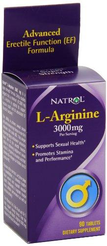 Natrol L-Arginine 3000 mg comprimés, 90-comte