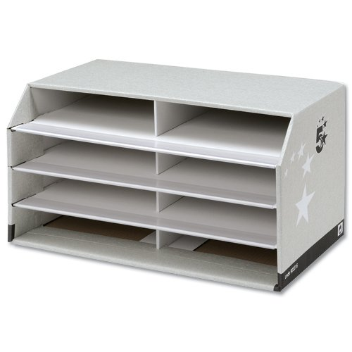 5 Star Document Sorter with 8 Compartments W494xD310xH270mm Grey 903016