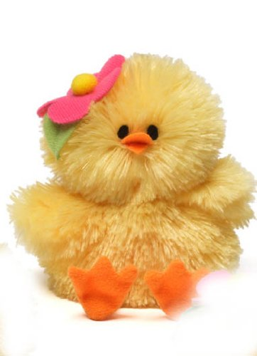 New Adorable Plush (Chick-a-dee Chirping Chick Dark Pink Gund Plush Toy NEW Adorable Cute Easter)