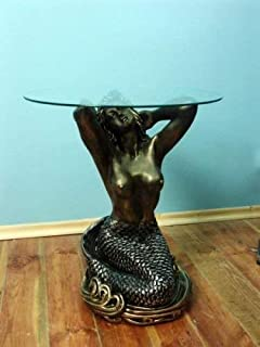 Sensation Nude Mermaid Coffee Table Coffee Table Hand Painted Glass Table