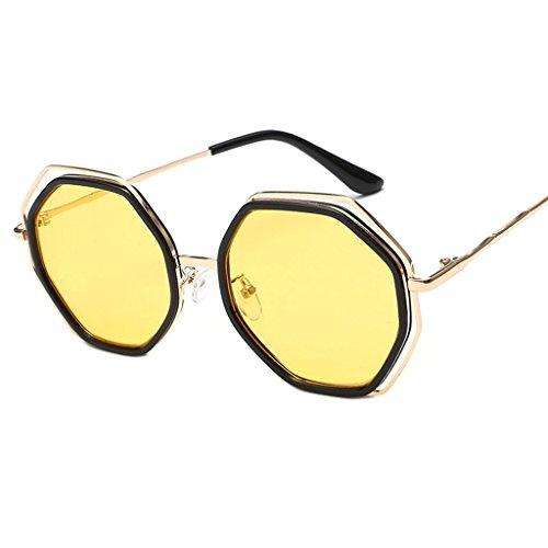 de de de los redondas Gafas gafas hombres QQB las personalidad señoras sol la de Gafas 6 6 de coreana de sol X852 moda Color elegantes Gafas vxnzx