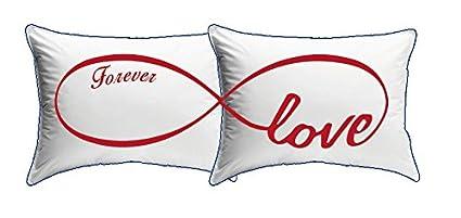 My Custom Style® Par de almohadas rectangulares de San Valentín – amor Infinito- de