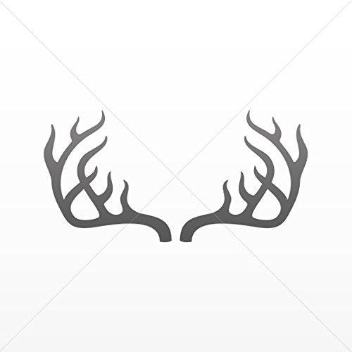 Decal Stickers Deer Horns Antler Motorbike Vehicle Weatherproof Garage Gray Dark (24 X 12.0 In)